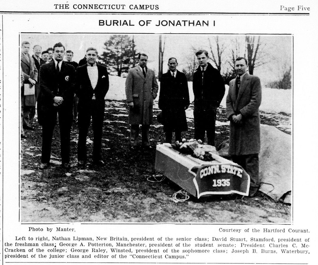 February 19, 1935, article showing the burial of Jonathan I