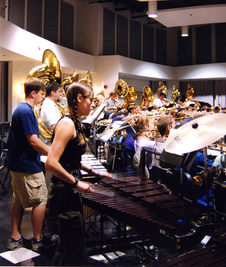 UConn Band performance, circa 2001