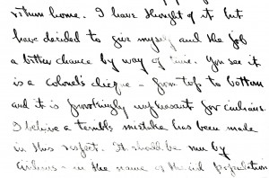 Portion of letter dated 7 August 1945