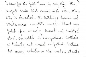 Portion of letter dated 14 August 1945