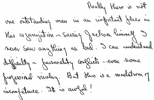 Portion of a letter, September 26, 1945