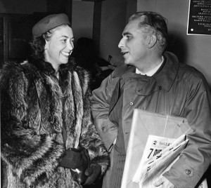 Grace and Tom Dodd Meeting at Brainerd Airport, 17 December 1945