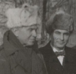 Father Walsh and Tom Dodd, circa 1945