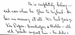 Portion of a letter, October 10, 1945