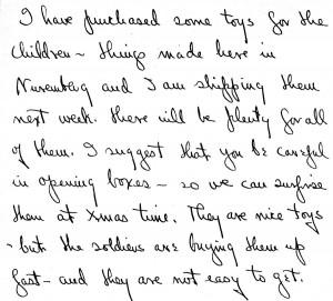 Portion of a letter, October 5, 1945