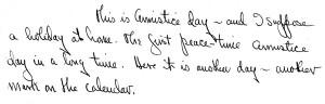 Portion of a letter, November 11, 1945