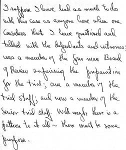 Portion of a letter, November 13, 1945