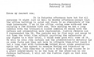 Portion of a letter, 2/16/1946