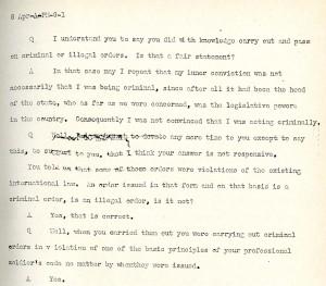 Trial Transcript v. 21, Dodd Papers, Box 349