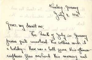 Portion of a letter, 7/4/1946