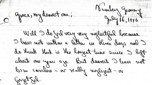 Portion of a letter, 7/16/1946