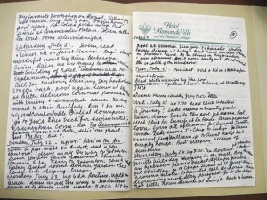 A page from Marshall's trip diary to New Orleans. (James Marshall Papers. Box 21:Folder 299). All rights reserved. No reproduction of any kind allowed.