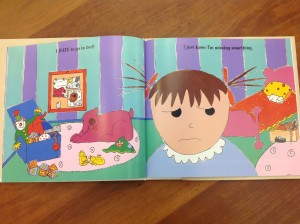 Davis, Katie. I Hate to Go to Bed! (New York: Harcourt Children's Books, 1999), 4-5. Photo taken from : CLDC1438, Archives and Special Collections at the Thomas J. Dodd Research Center, University of Connecticut Libraries