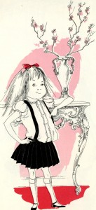 Kay Thompson's Eloise (New York : Simon and Schuster, 1955).  Illustrated by Hilary Knight.  Pg. 7.