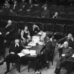 Courtroom scene, [between 1945 and 1946].