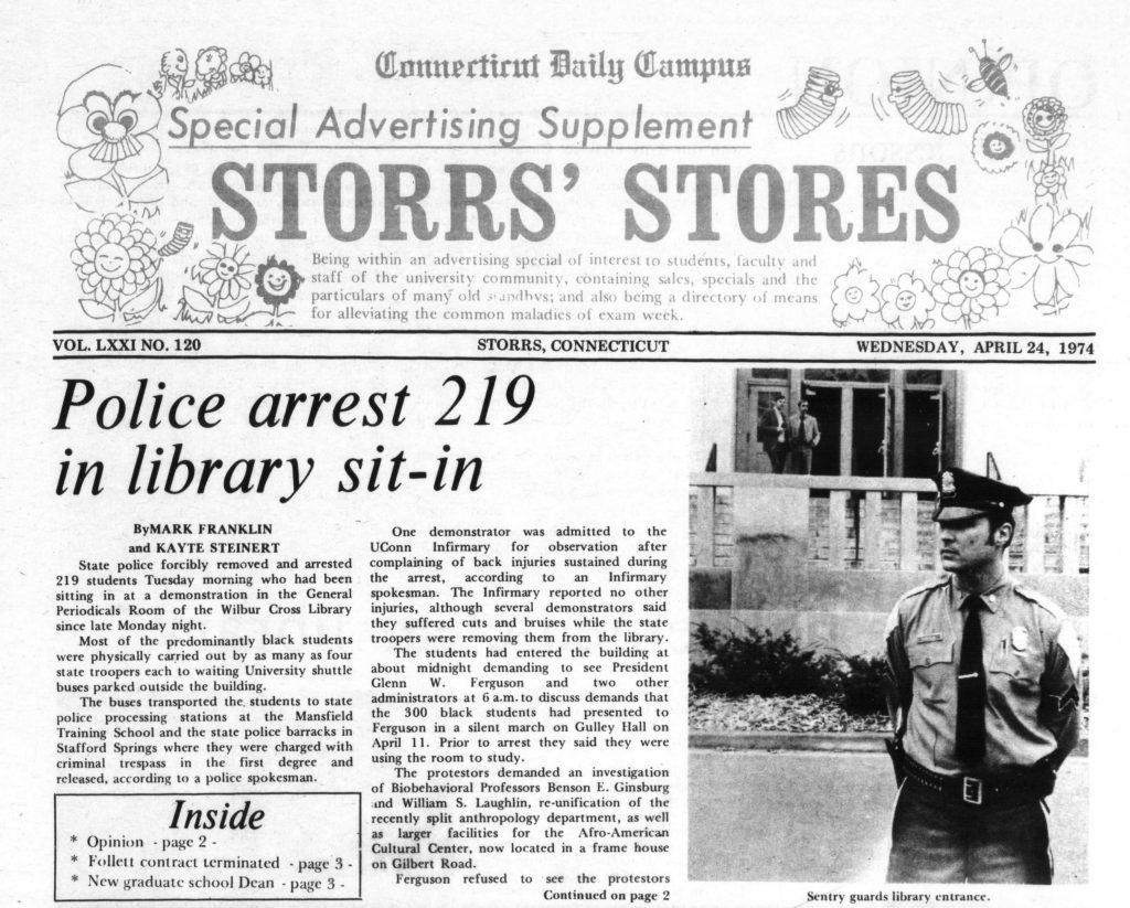 April 24, 1974, issue of the Connecticut Daily Campus