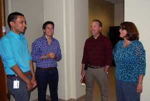 TIm Lim; Rachel Conboy; David Avery, Facilities Manager; Martha Bedard, Vice Provost