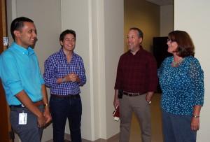 TIm Lim; Rachel Conboy; David Avery, Facilities Manager; Martha Bedard, Vice Provost