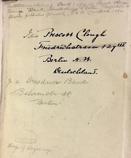 Inscription in UConn's copy of Italien Handbuch für Reisende
