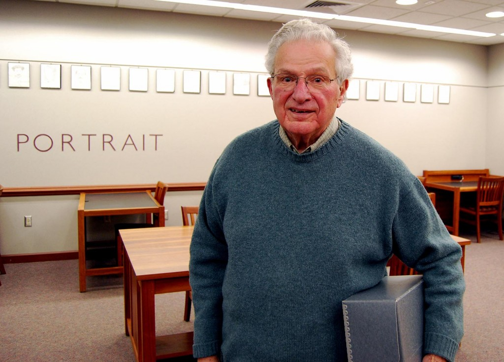 Rudy Favretti in the Archives & Special Collections Reading Room.
