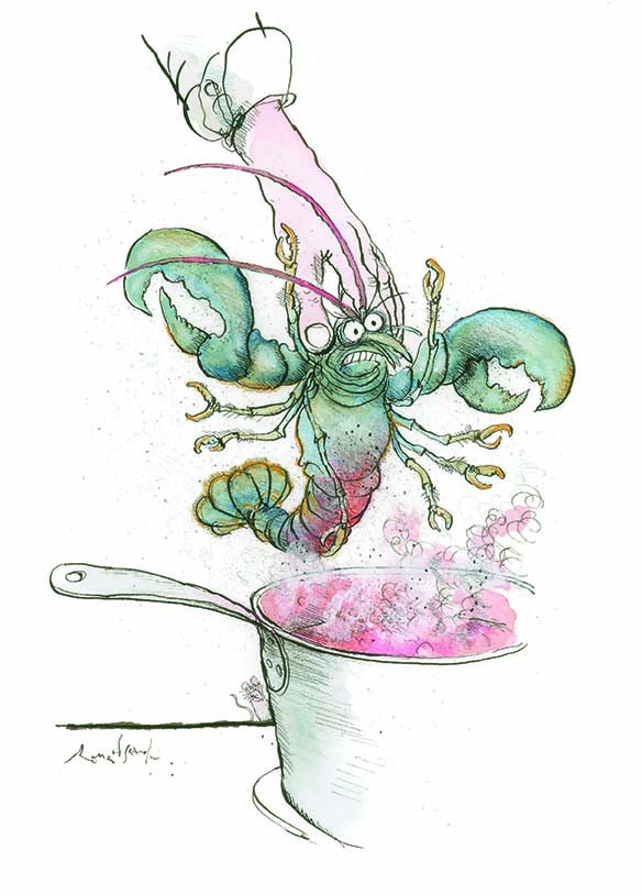 The Conservative Lobster, Beastly Feasts. Ronald Searle