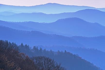 Newfound gap, Blue Ridges