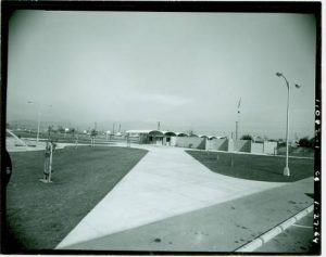 View of the community building at Charter Oak Park. California Digital Library. (1964-01-27) Retrieved from the Digital Public Library of America.