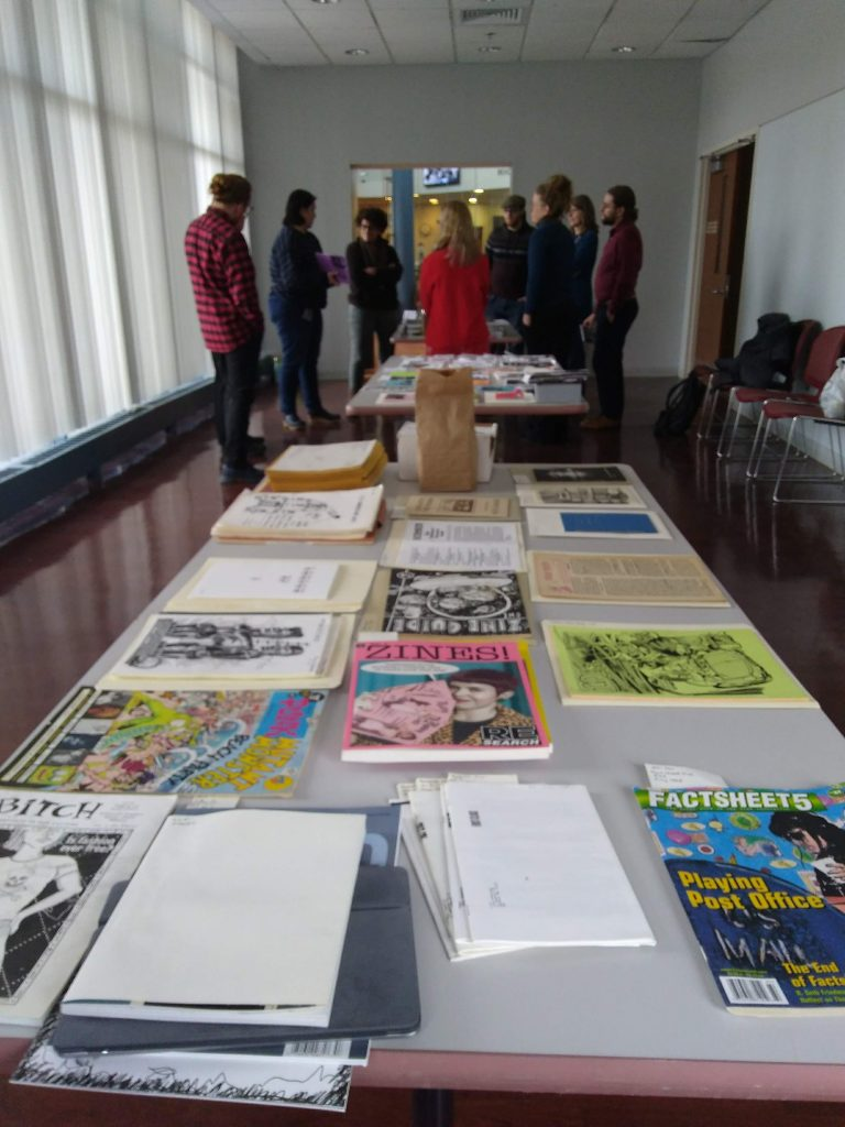 Zine class in Archives & Special Collections