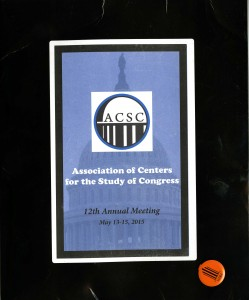 12th Annual Conference packet and authorized researcher pin
