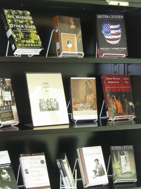 Book Display for Black History Month at UConn Stamford