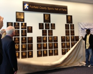 Unveiling of new class of Fairfield County Sports Hall of Fame plaques. 3/18/13