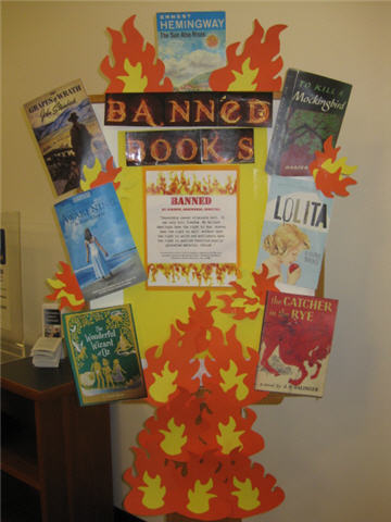 Banned Books Library Display