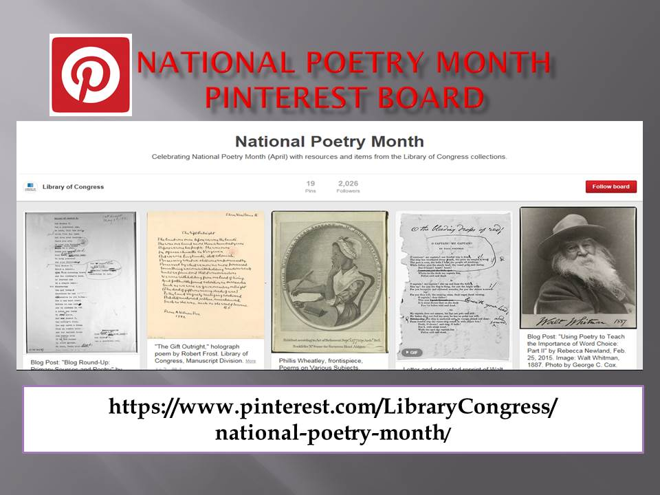 National Poetry Month Pinterest Board